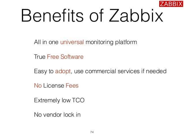 Benefits of Zabbix