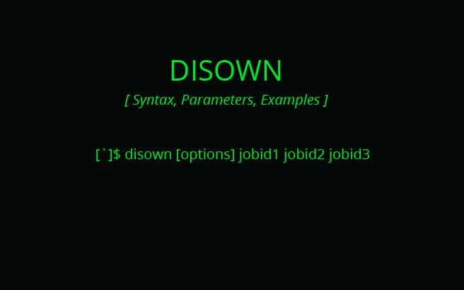DISOWN command linux