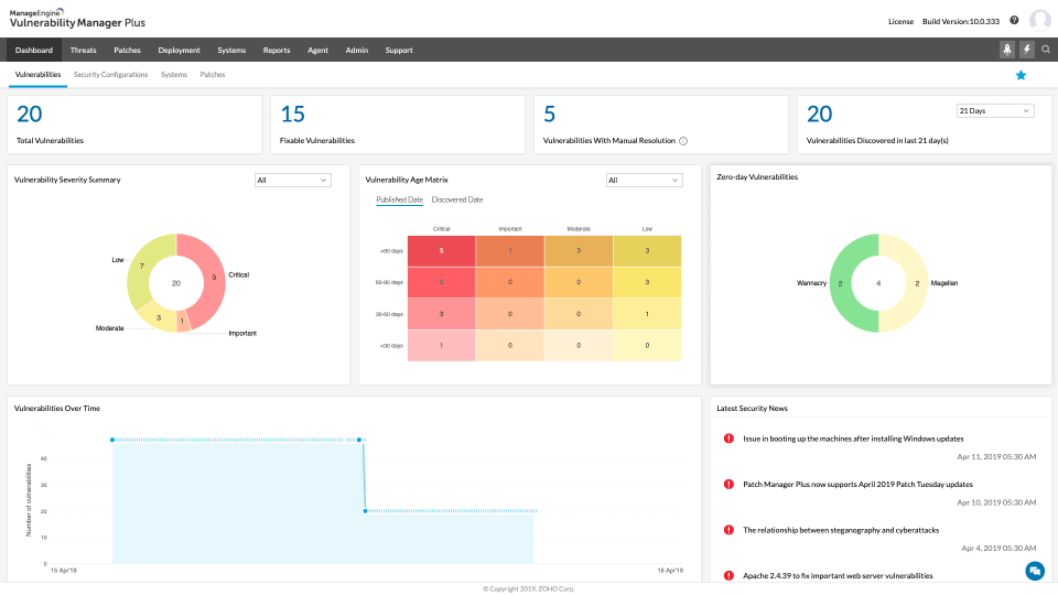 ManageEngine Vulnerability Manager Plus