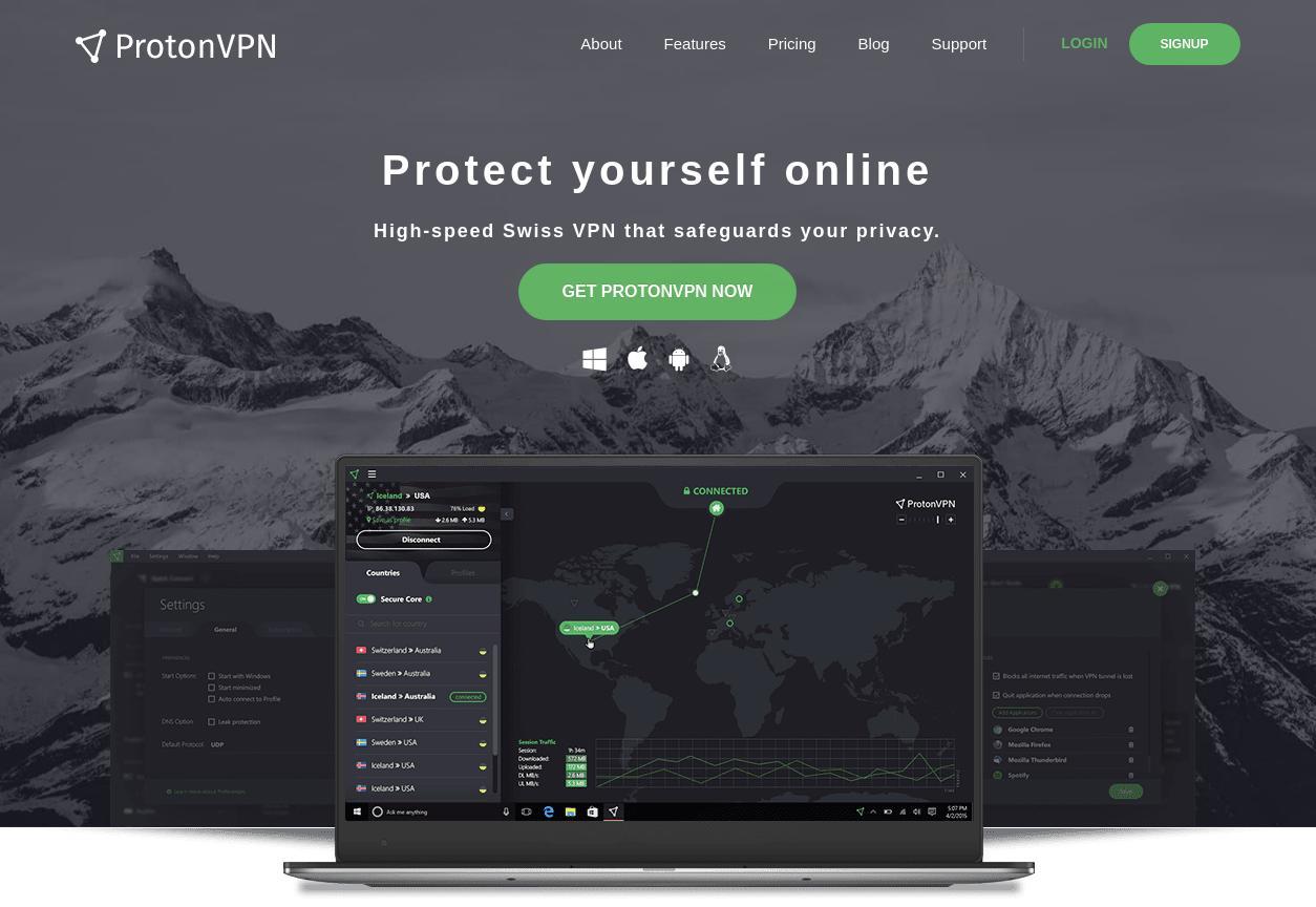 ProtonVPN Home Page