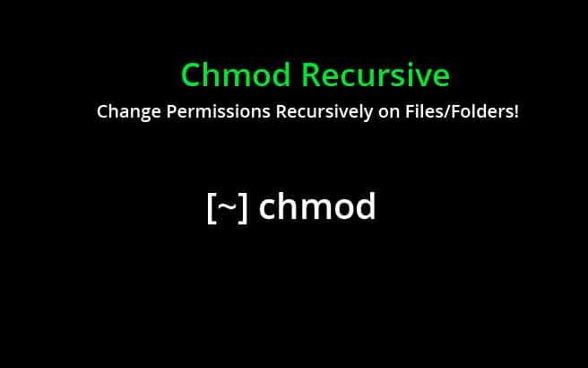 chmod recursive