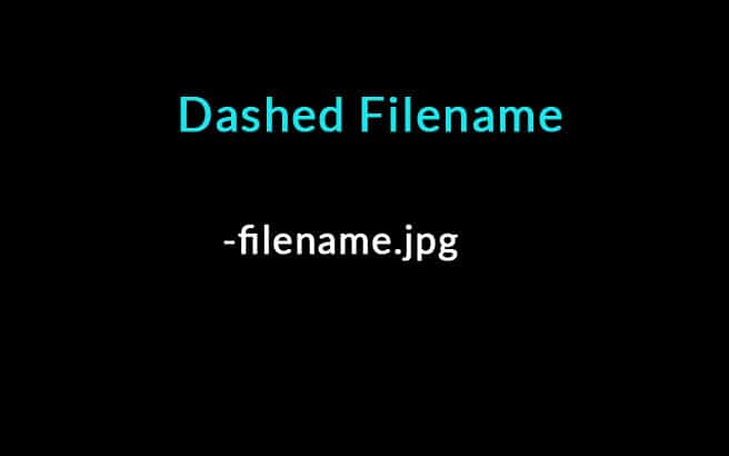 dashed filename