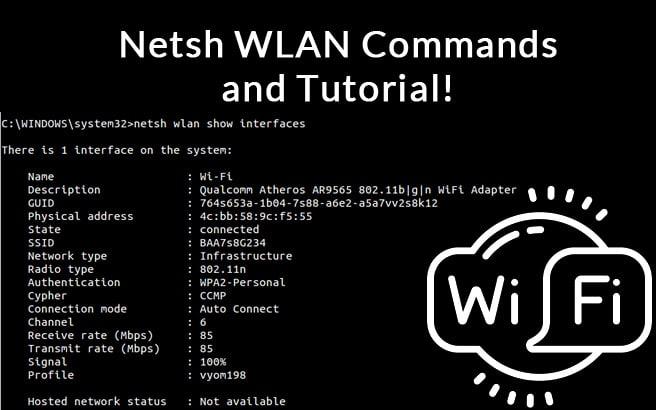netsh wlan commands