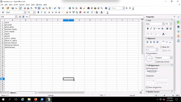 export AD group members to CSV file