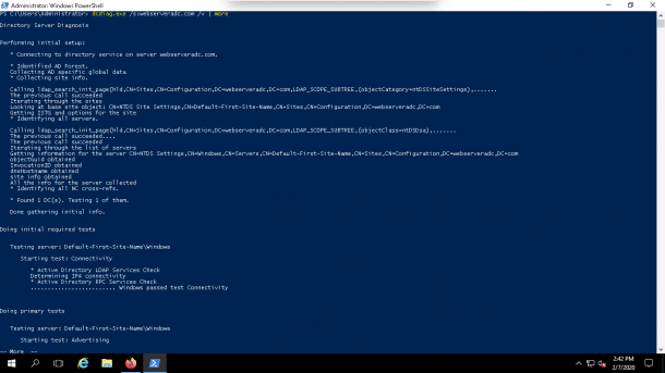 DCDiag with Verbose Output