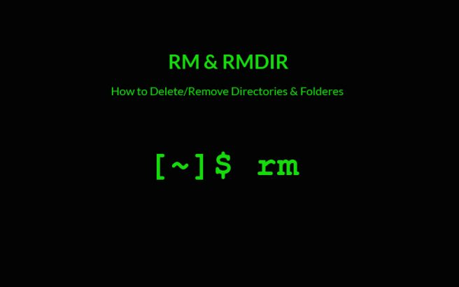 rm and rmdir commands