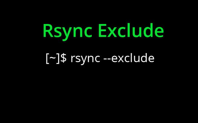 rsync exclude - tutorial and howto