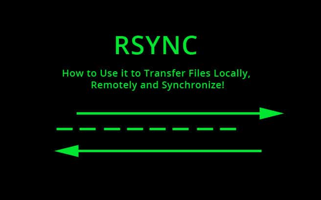rsync how to transfer locally, remotely and synchronize
